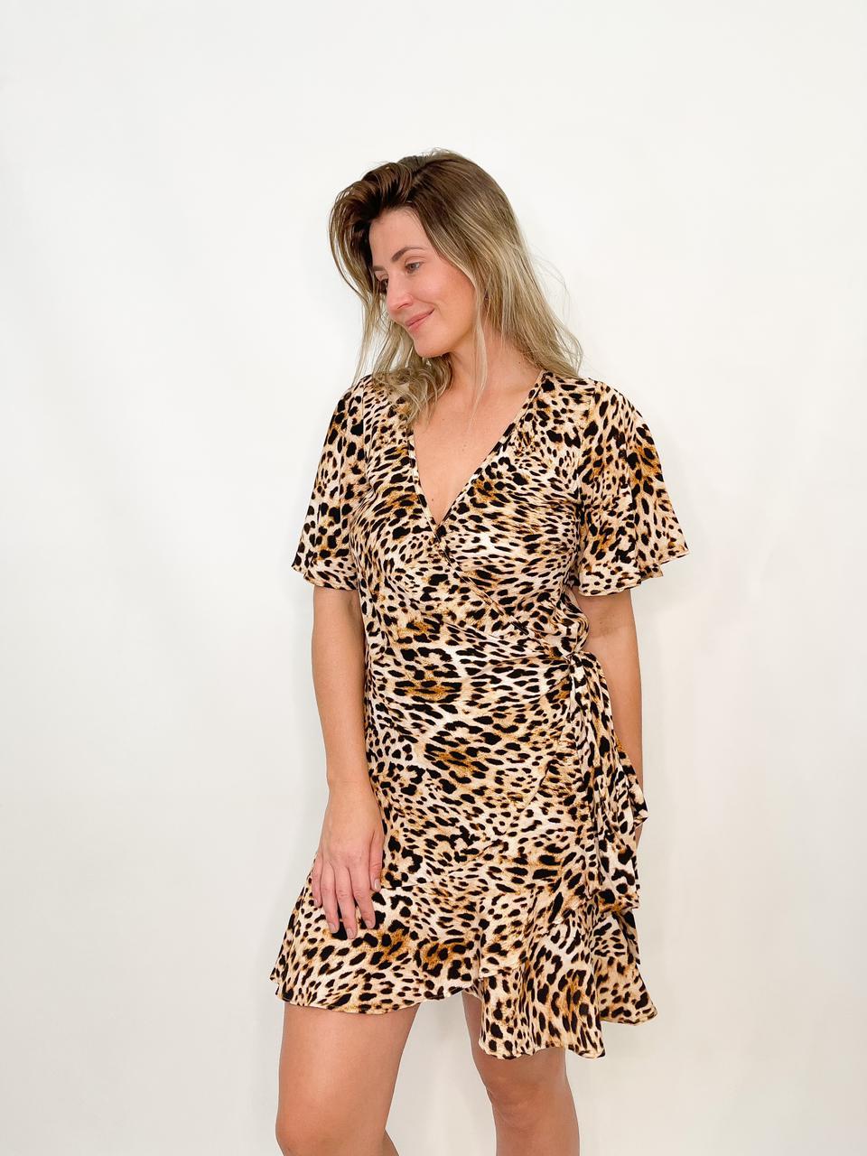 Vestido Envelope Animal Print