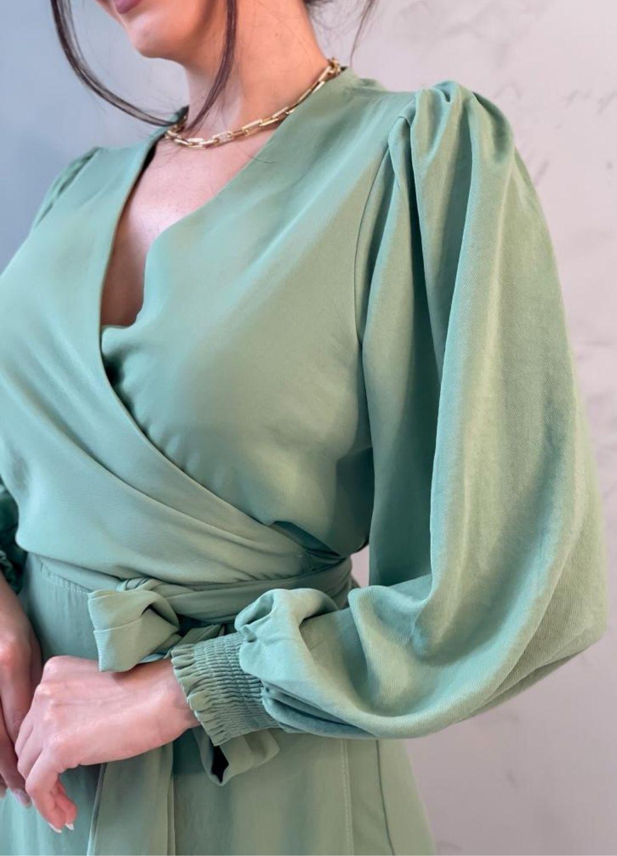 Vestido Envelope Longo Verde