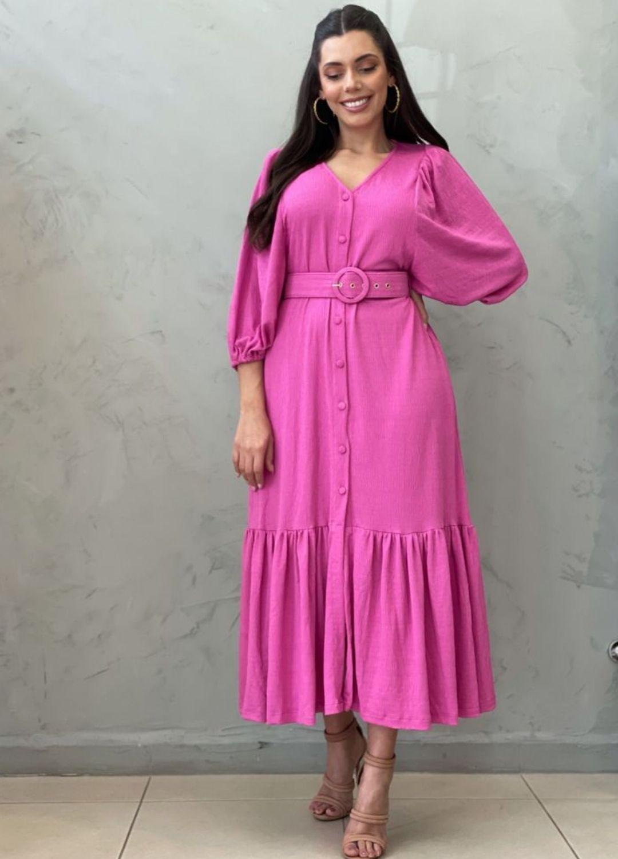 Vestido max Midi pink