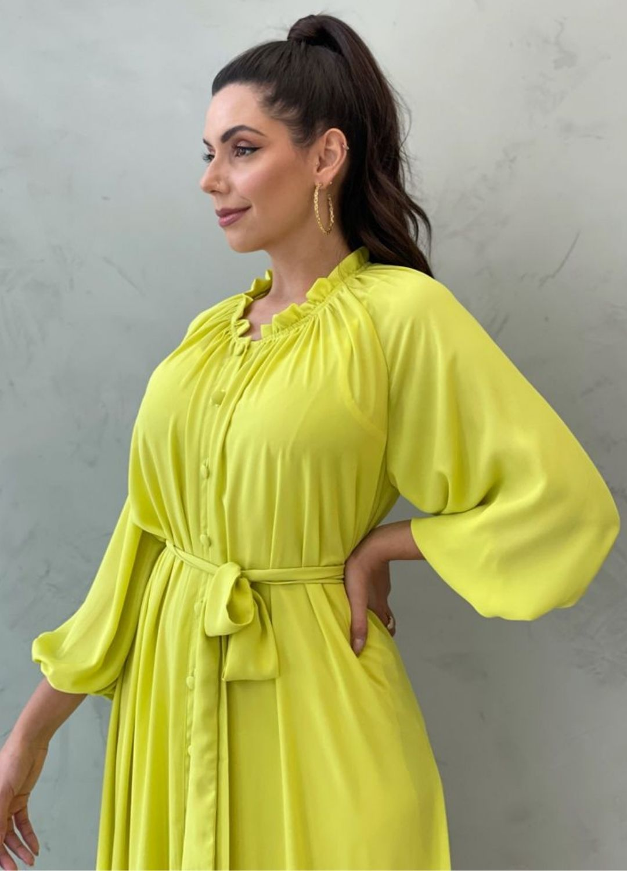 Vestido max Midi Verde lima