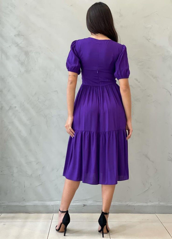 Vestido Midi Amplo roxo