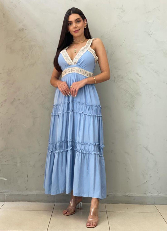 Vestido Midi AZUL bebe
