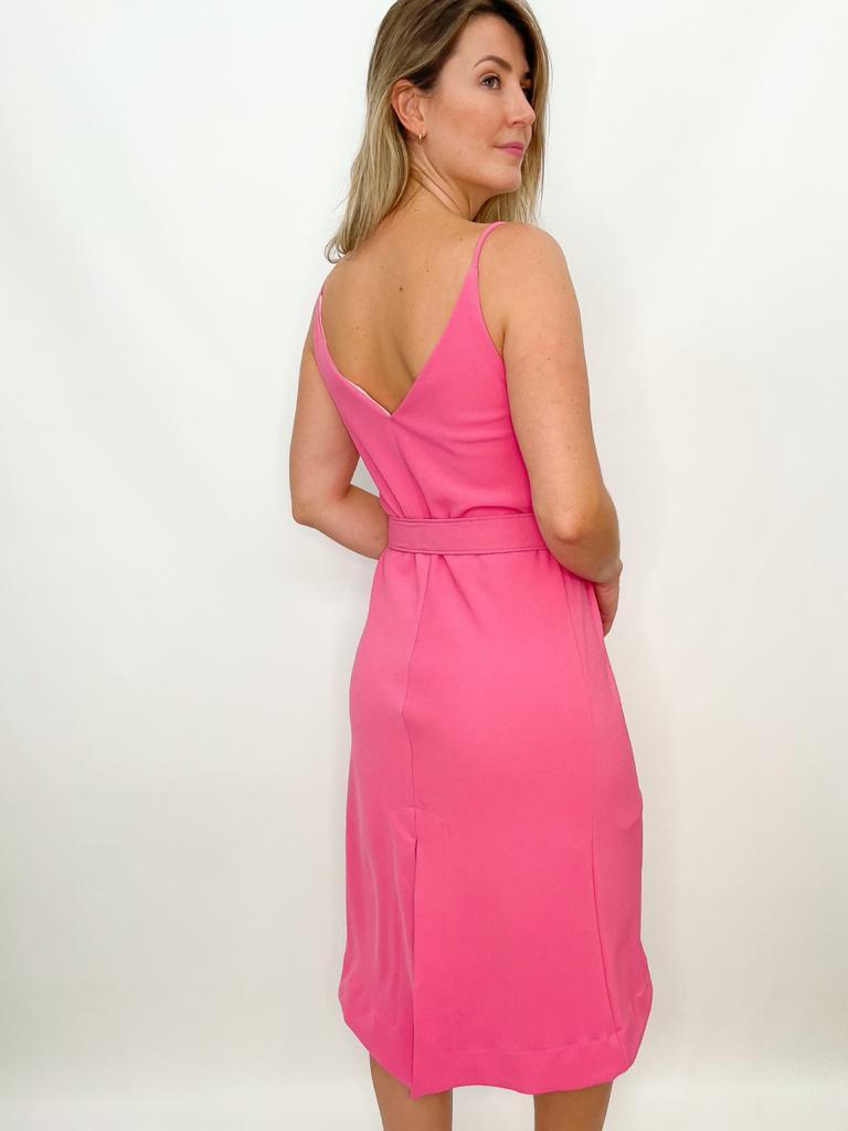 Vestido Midi básico rosa