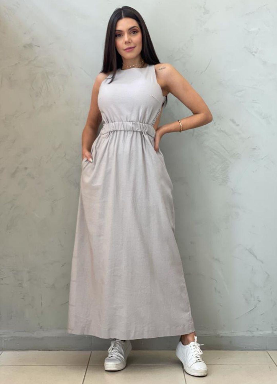 Vestido Midi cru