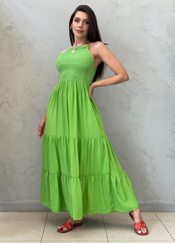 Vestido Midi de alça verde
