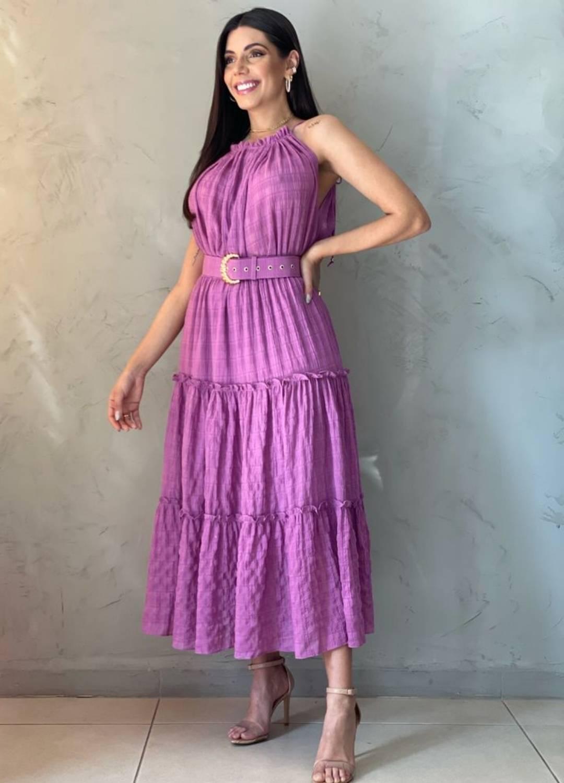 Vestido midi roxo