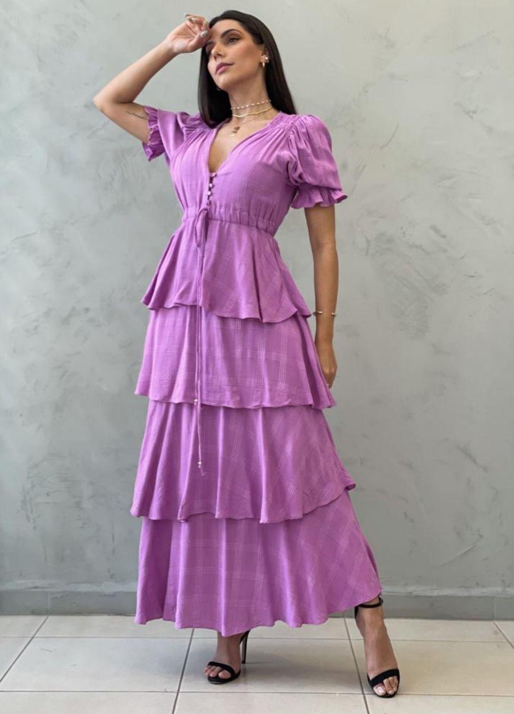 Vestido Midi uva