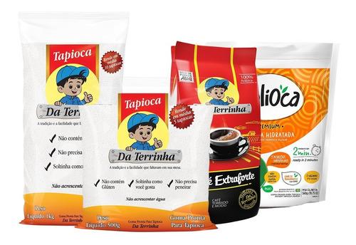 Kit Tapiocas + Delioca Premium + Café 500g Da Terrinha