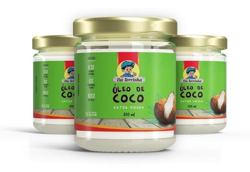 Óleo De Coco Extra Virgem Da Terrinha 200ml
