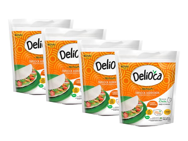 Tapioca Delioca Premium Da Terrinha 560g - Kit 4 Un.