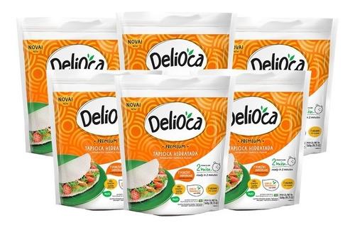 Tapioca Delioca Premium Da Terrinha 560g - Kit 6 Un.