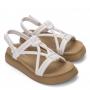 Sandália Melissa Essential Branco|Bege