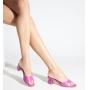 Tamanco Salto Baixo Schutz Triangle Pink
