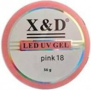Gel Unha 56gr Led Uv X & D Pink 18