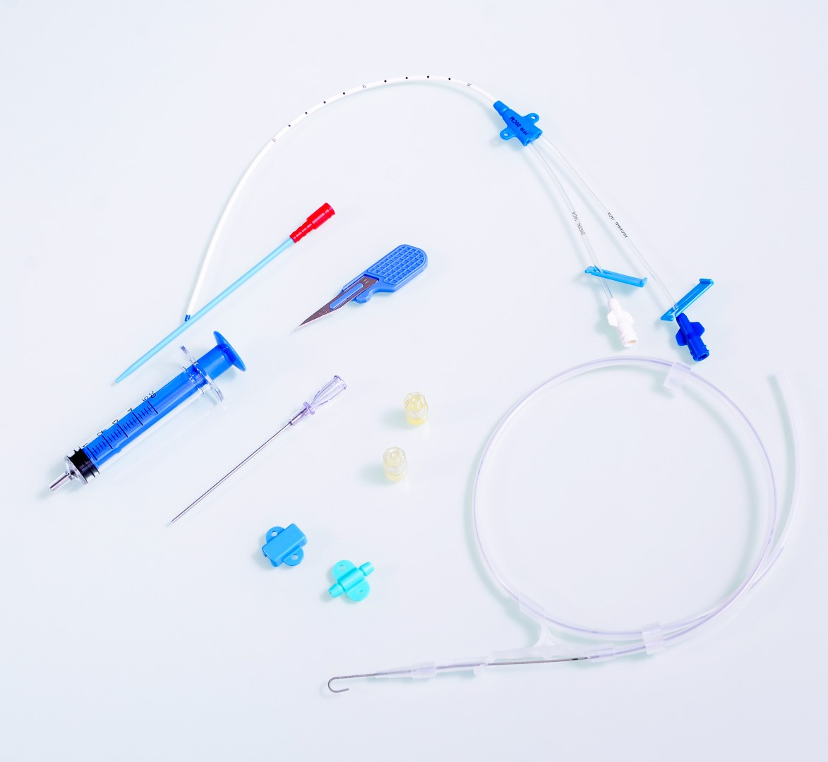 KIT Cateter Venoso Central Duplo Lúmen 7FrX20cm Nitinol CVC Biomed [Caixa com 10]
