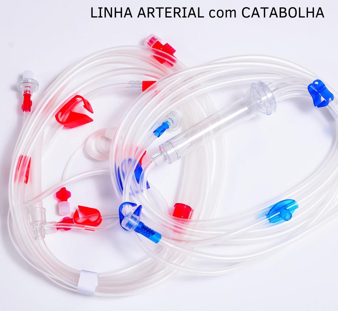 KIT de linha de sangue artério venosa para hemodiálise Biomed com catabolha [Caixa com 24]