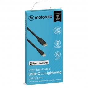Cabo de Dados USB-C x Lightning 1,5m - Motorola