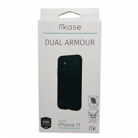 Capa Anti Impacto Iphone 11 - Ikase Dual Armour - PRETO