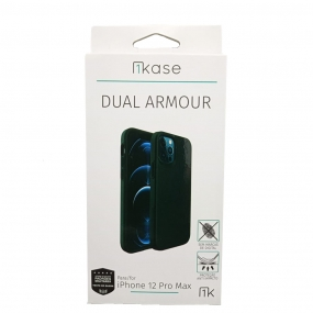 Capa Anti Impacto Iphone 12 Pro Max - Ikase Dual Armour - PRETO