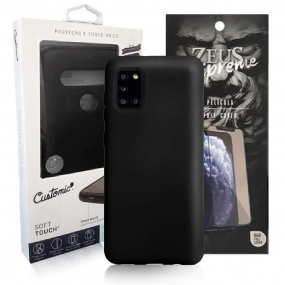 Capa Customic Soft Touch + Película Nano Zeus Supreme - Samsung A31