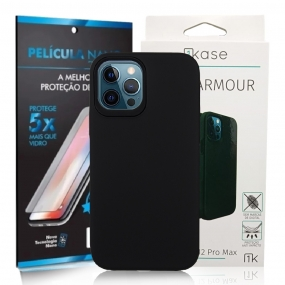 Capa Ikase Dual Armour + Película Nano Premium Iphone 12 Pro Max