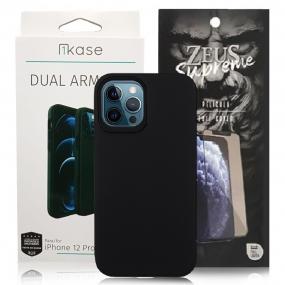 Capa Ikase Dual Armour + Película Nano Zeus Supreme - Iphone 12 Pro Max