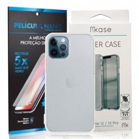 Capa Ikase Gliter Transparente + Película Nano Premium - Iphone 12 Pro Max