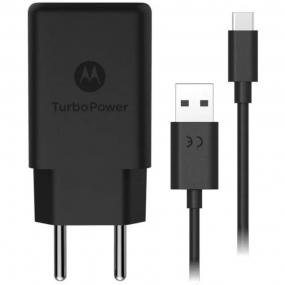Carregador de Parede Motorola Turbo Power 15W,  com Cabo USB Tipo-C