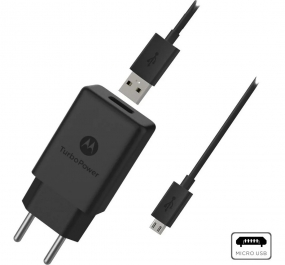 Carregador Motorola Turbo Power 18W, com Cabo Micro USB - 1UNICA
