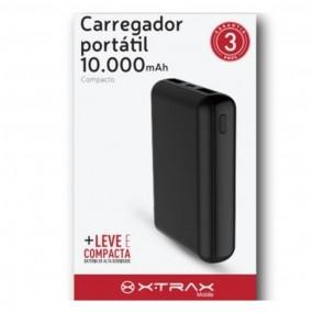 Carregador Portátil Xtrax 10.000 Mah Universal 3 conectores