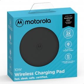 Carregador Sem Fio Motorola 10w com Cabo de Carga Usb-C