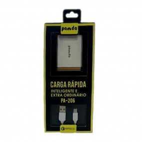 Carregador Tipo C Panda PA206 Quick Charge 3.0