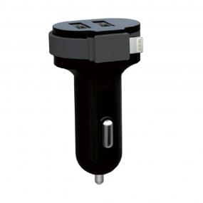 Carregador Veicular 6A com Cabo Lightining - Easy Mobile