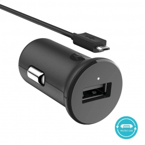 Carregador Veicular Motorola 15W Turbo Power e Cabo Micro USB