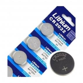 Cartela de Baterias de Lithium CR2032