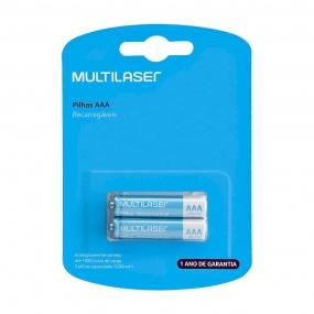 Pilhas Recarregáveis Aaa 1000Mah Com 2 Unidades - CB051 Multilaser
