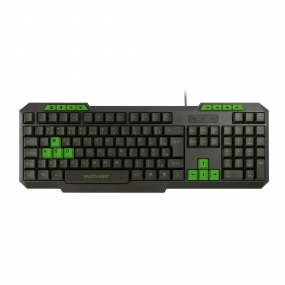 Teclado Gamer com Hotkeys Multimidia Slim TC243 Multilaser - VERDE
