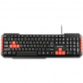 Teclado Gamer Red Keys USB Multimidia TC160