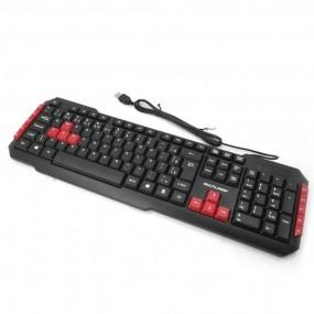 Teclado Gamer Red Keys USB Multimidia TC160