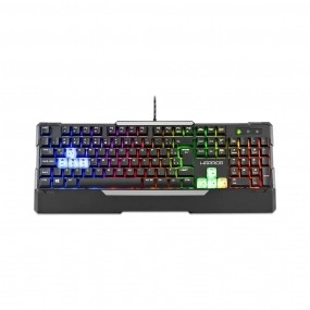 Teclado Gamer Warrior Wakiza Semi Mecânico LED Rainbow - TC208