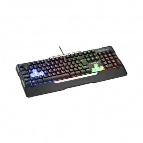 Teclado Gamer Warrior Wakiza Semi Mecânico LED Rainbow - TC208