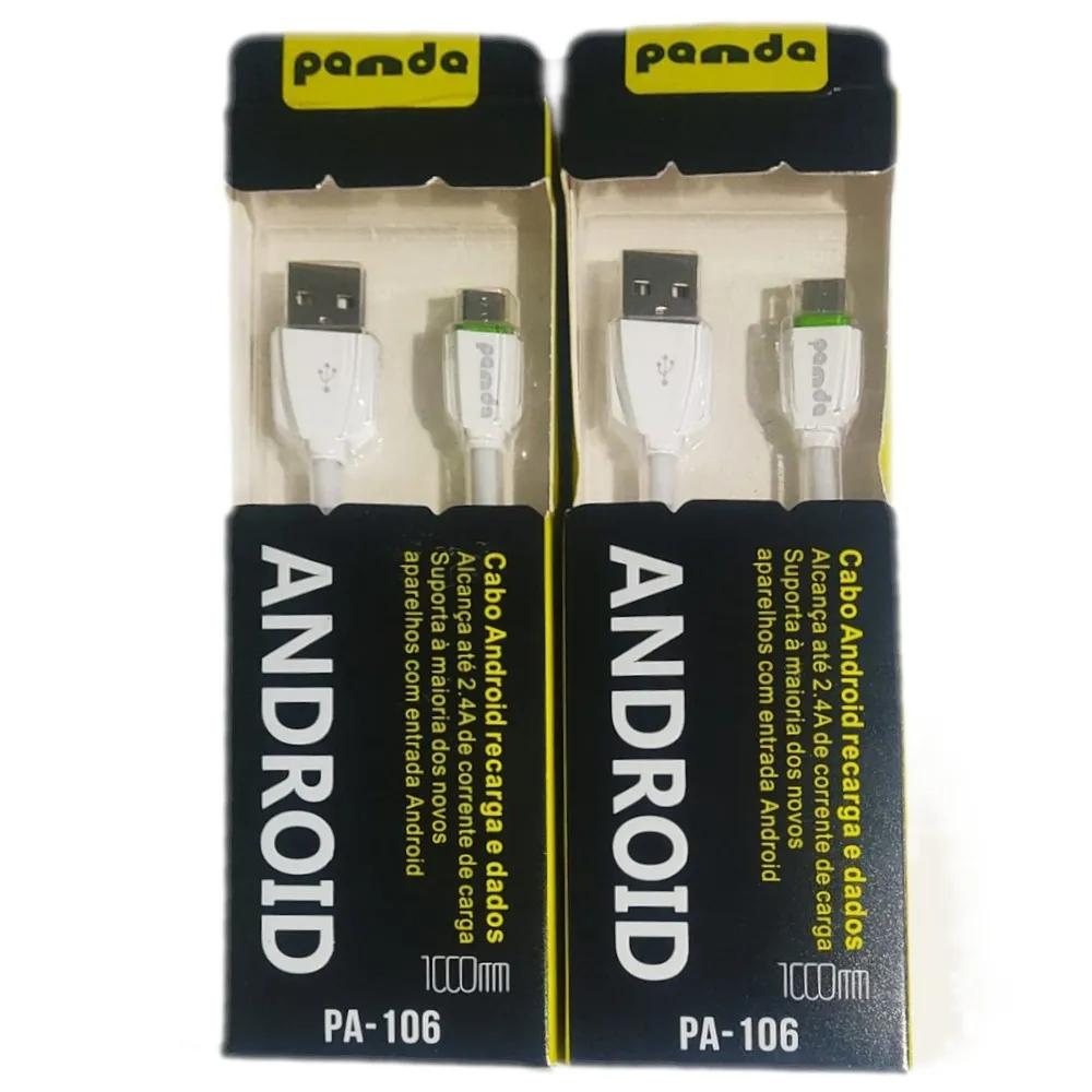 Cabo de Dados e Carga rápida Micro USB Panda PA-106