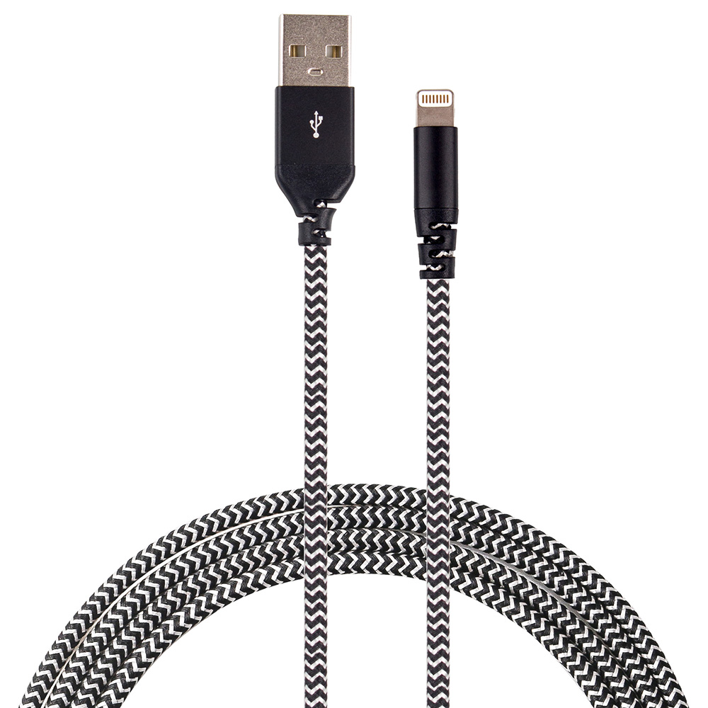 Cabo Lightning Force Cable 1,2m com Kevlar - Easy Mobile