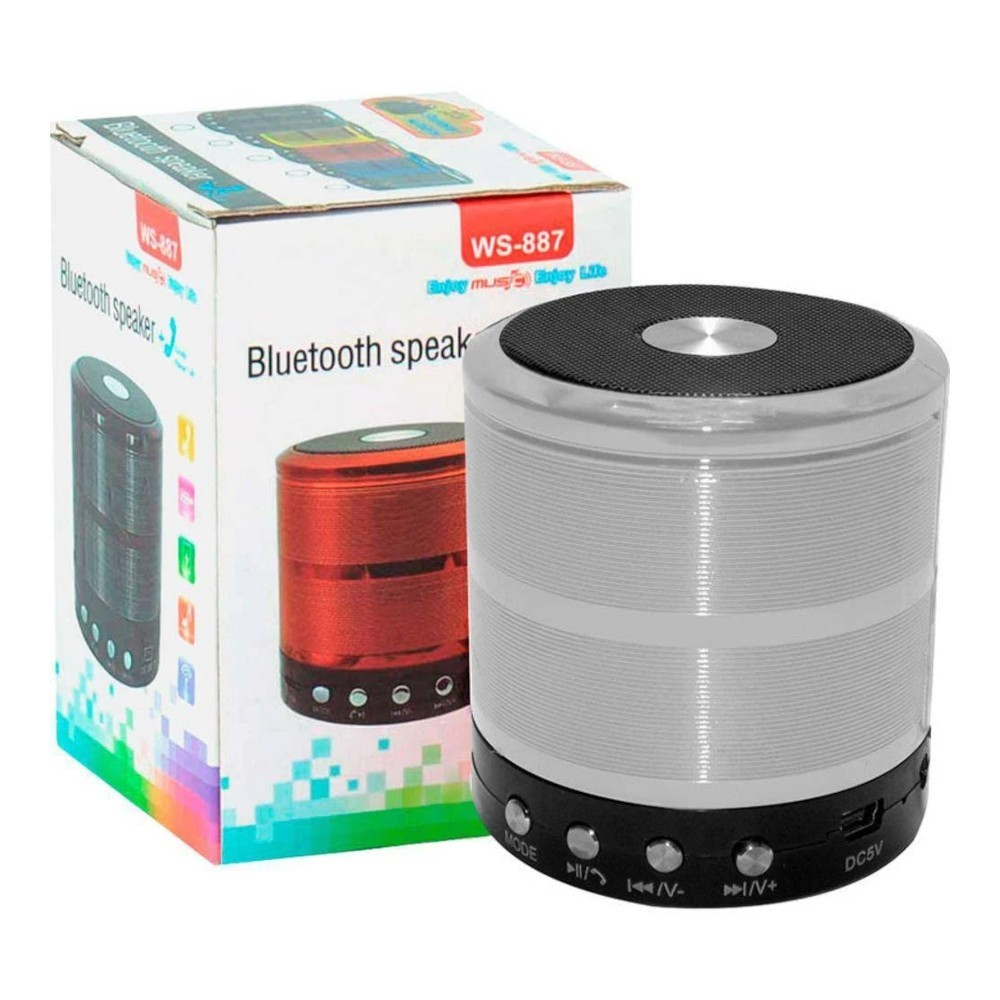 Caixinha De Som Bluetooth Ws 887 Speaker 3w Watts