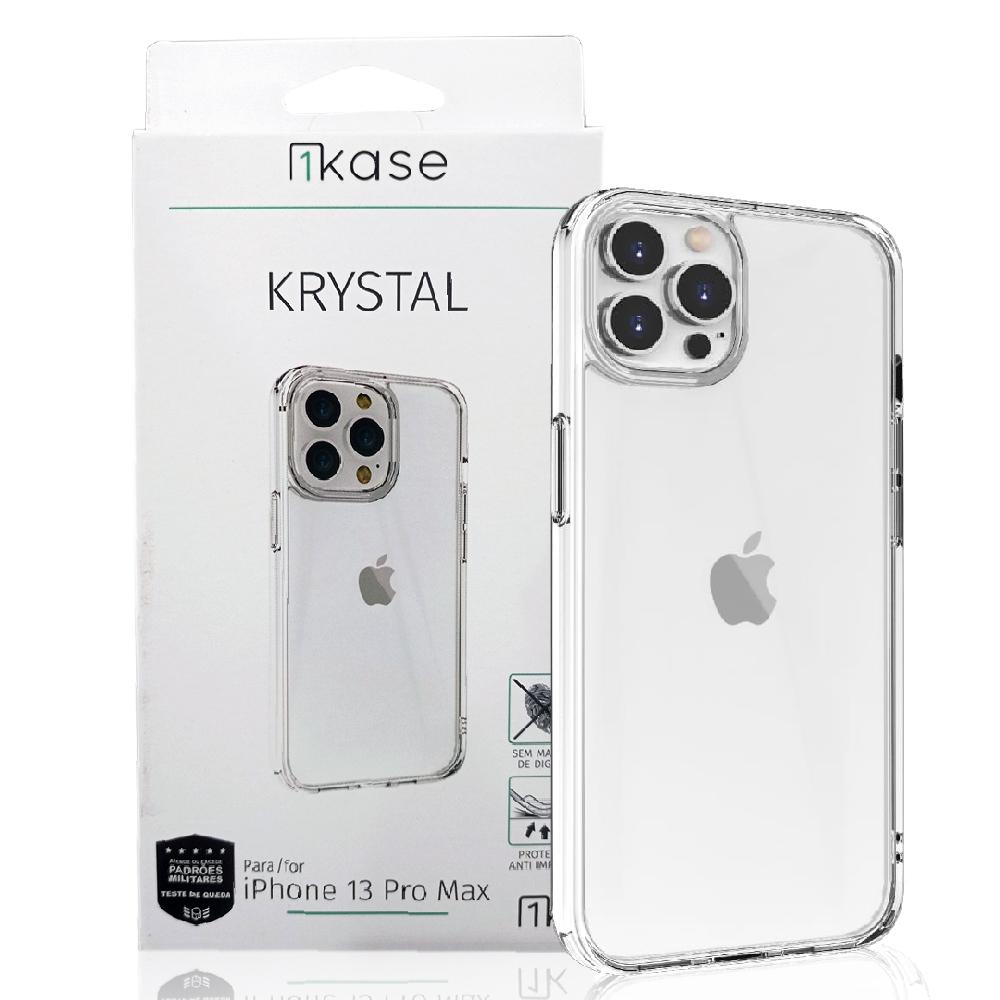 Capa Anti Impacto Iph 13 Pro Max Ikase Krystal - TRANSP