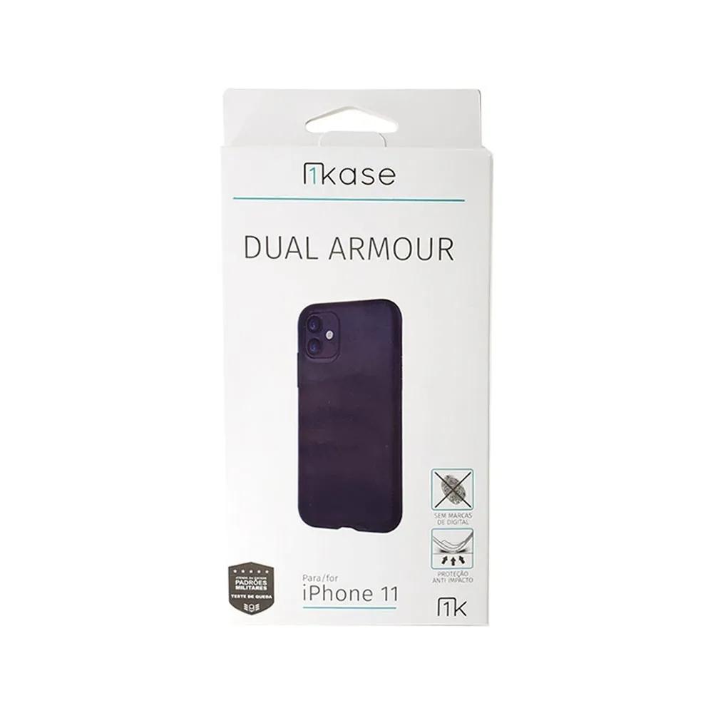 Capa Anti Impacto Iphone 11 Pro Ikase Dual Armor - PRETO