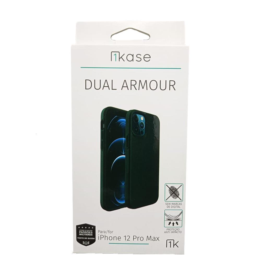 Capa Anti Impacto Iph12 Pro Max Ikase Dual Armour - PRETO