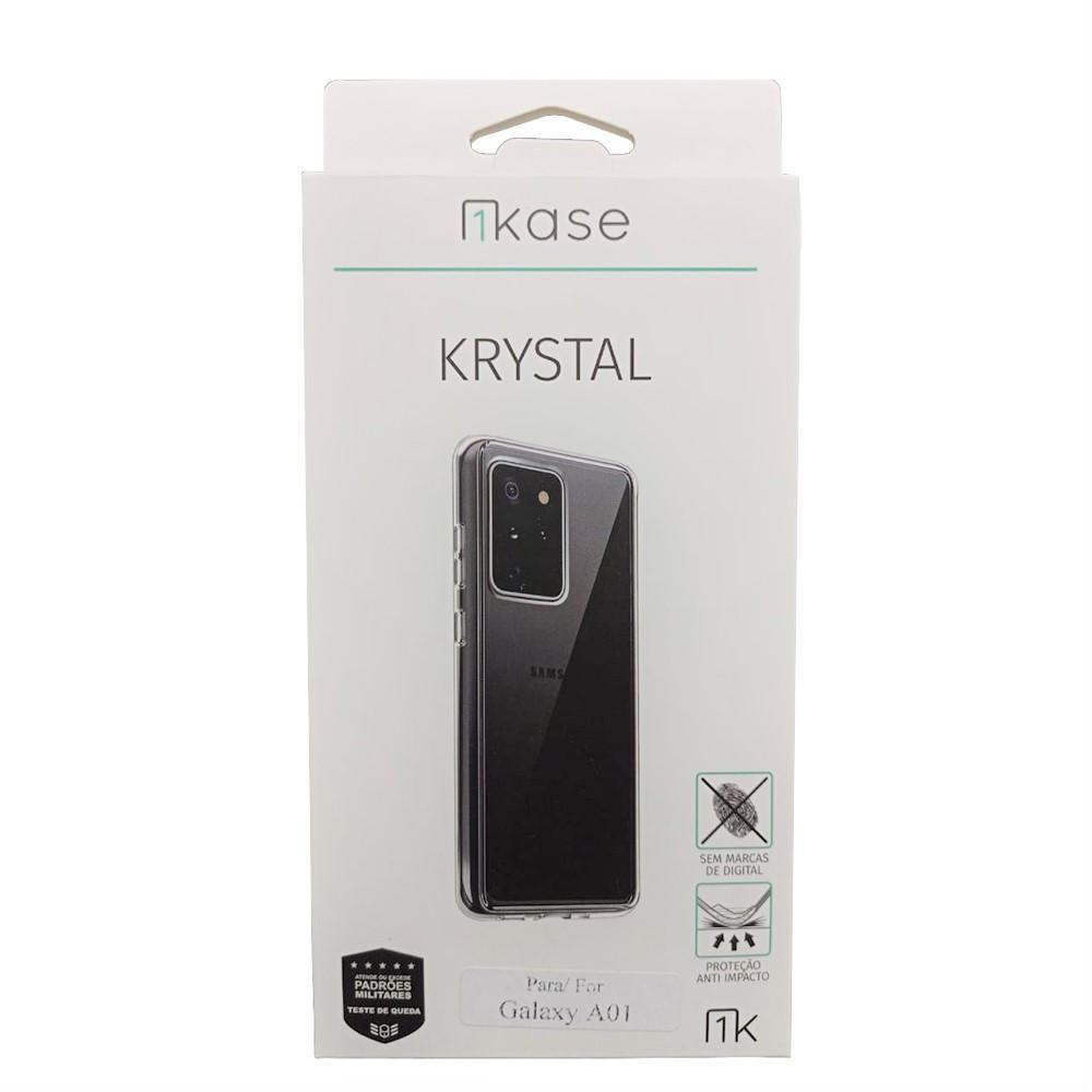 Capa Anti Impacto Samsung A01 - Ikase Krystal - TRANSP