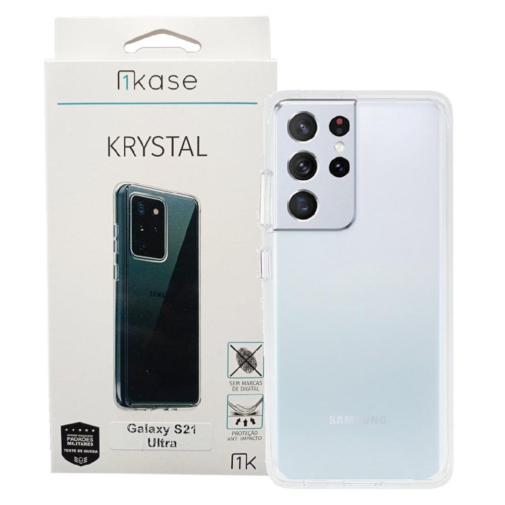 Capa Anti Impacto Samsung S21 Ultra Ikase Krystal - TRANSP