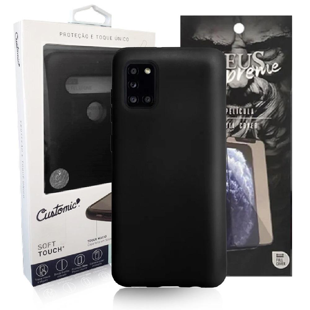 Capa Customic Soft Touch + Película Nano Zeus Supreme - Samsung A71